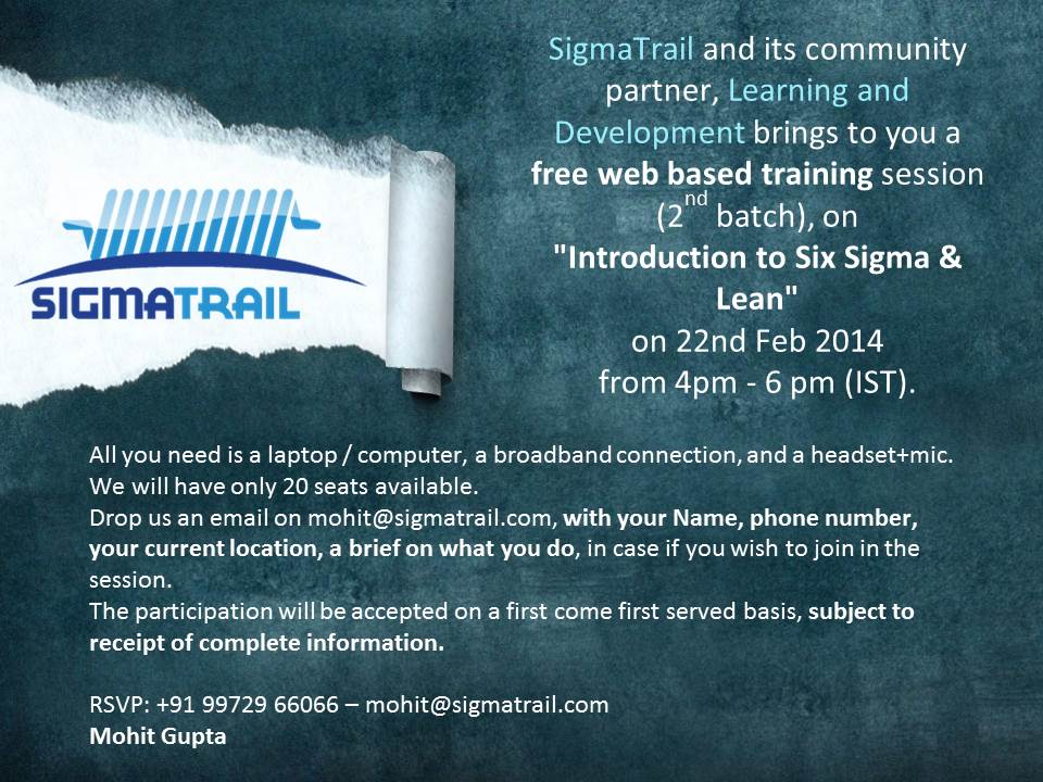 Intro to Six Sigma - SigmaTrail-announcement-002